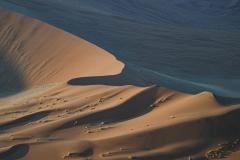 Paisaje de dunas desde lo alto.