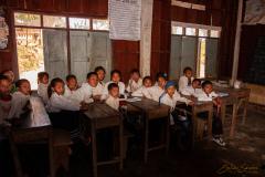 En clase.