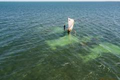 Pescadores desde el aire.